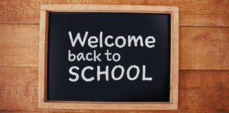 Composite image of welcome back to school text against white background Royalty Free Stock Photography
