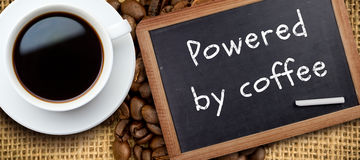Composite image of white cup of coffee Royalty Free Stock Images