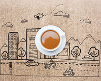 Composite image of white cup of tea Stock Photography