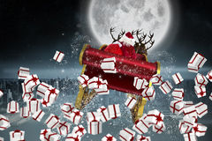 Composite image of white and red christmas presents Royalty Free Stock Image