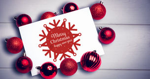Composite image of white and red greetings card Stock Photography