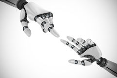 Composite image of white robot arm pointing at something Stock Photography