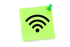 A Composite image of wifi symbol Royalty Free Stock Photo