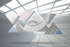 Composite image of winding staircase on abstract screen Stock Photography