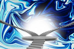 Composite image of winding stairs. Winding stairs against painting Royalty Free Stock Photos
