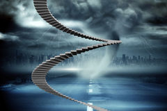 Composite image of winding stairs Stock Photos
