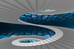 Composite image of winding stairs Royalty Free Stock Image