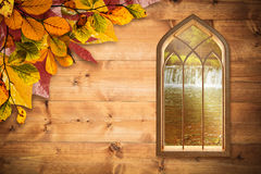 Composite image of window against white background Stock Images