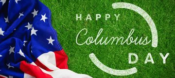 Composite image of wish for colombus day. Wish for colombus day  against closed up view of grass Royalty Free Stock Image