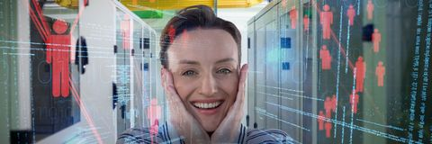 Composite image of woman portrait Stock Photography