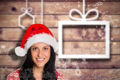 Composite image of woman smiling at the camera Stock Photography