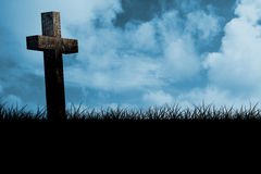 Composite image of wooden cross Royalty Free Stock Photography