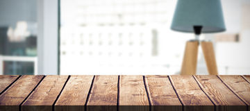 Composite image of wooden table Royalty Free Stock Photo