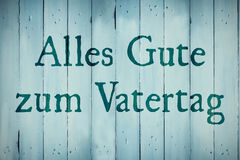 Composite image of word alles gute zum vatertag Royalty Free Stock Photos