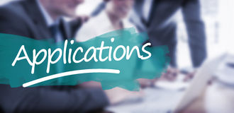 Composite image of word applications underlined Royalty Free Stock Image