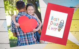 Composite image of word best dad ever royalty free stock photo