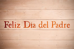 Composite image of word feliz dia del padre Stock Photography