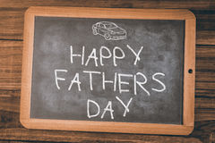 Composite image of word happy fathers day on white background Stock Photos