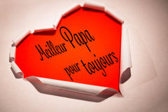Composite image of word meilleur papa pour toujours Stock Photography