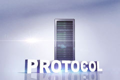 Composite image of the word protocol Stock Image