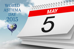 Composite image of world asthma day. World asthma day against blue sky Stock Photo