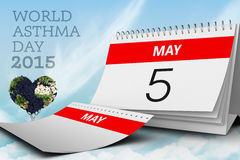 Composite image of world asthma day. World asthma day against blue sky Royalty Free Stock Photography