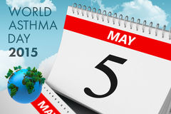 Composite image of world asthma day. World asthma day against blue sky Stock Photography