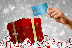 Composite image of world credit card Stock Images