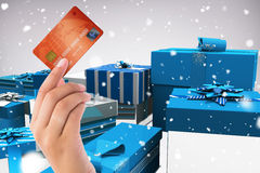 Composite image of world credit card Stock Photos