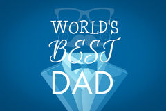 Composite image of worlds best dad Royalty Free Stock Photography