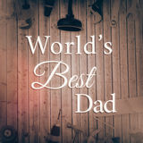 Composite image of worlds best dad Royalty Free Stock Photo