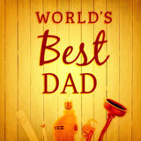 Composite image of worlds best dad ever Royalty Free Stock Photos