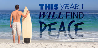Composite image of this year i will find peace stock photography