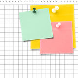 Composite image of yellow sticky note with thumbtack Royalty Free Stock Image