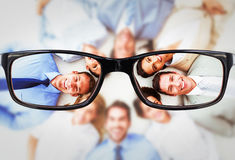 Composite image of young business people lying in circle Royalty Free Stock Image