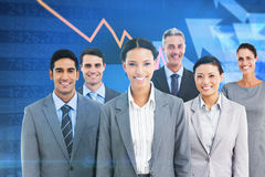 Composite image of young business people in office Stock Image