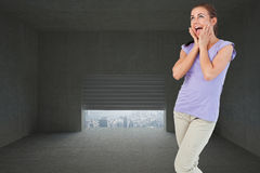 Composite image of young female surprised Stock Photo