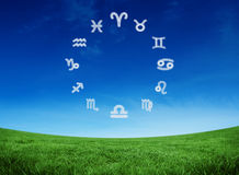 Composite image of zodiac chart Stock Images