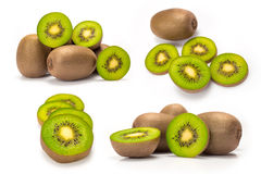 Composite of kiwi fruit Stock Photo