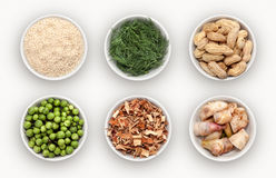 Composite with many different varieties of ingredients Stock Photo