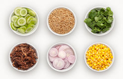 Composite with many different varieties of ingredients Royalty Free Stock Image