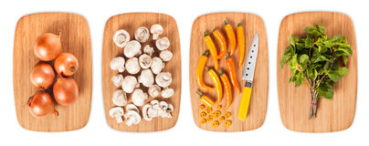 Composite with many different varieties of ingredients Royalty Free Stock Photo