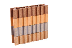 This is a Composite Material for terrace on the white background Stock Image