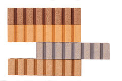 This is a Composite Material for terrace on the white background Stock Images