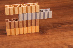 This is a Composite Material for terrace on the wood Stock Photography