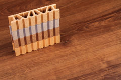 This is a Composite Material for terrace on the wood Royalty Free Stock Photo