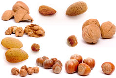 Composite of nuts stock photos