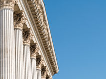 Composite Order Of Greek Style Columns Stock Photo