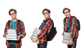 The composite photo of student with books Stock Photo