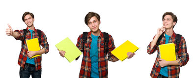 The composite photo of student with books Stock Image